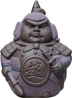 Hoobar Handmade Zisha Tea Pet Ceramic 5 Heros Design Style of The Romance of The Three Kingdoms, Decoration for Kungfu Tea...