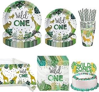 Kicpot Wild One Birthday Decorations, Wild One Disposable Tableware Set (Serves 10)