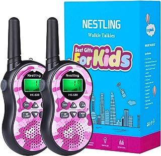 Nestling Walkie Talkie Niños, Camuflaje al Aire Libre 8 Canales LCD Pantalla Linterna Incorporado VOX, Rango de 3KM, 10 To...