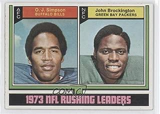 O.J. Simpson; John Brockington (Football Card) 1974 Topps - [Base] #328