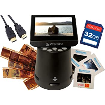 Wolverine F2D 35mm Film to Digital Image Converter with 2.4-Inches LCD and TV-Out