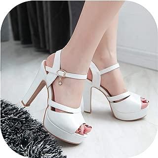 Platform Shoes Female Summer High Heels Sandals Open Toe Super High Heels,