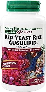 NaturesPlus Herbal Actives Red Yeast Rice Gugulipid - 450 mg, 120 Vegan Capsules - Heart Health Supplement, Cholesterol Su...