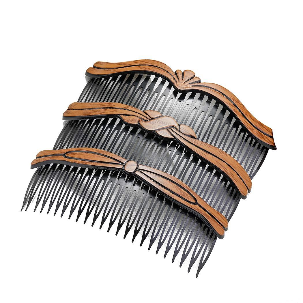Briskaari Vintage Hair Side Combs Wooden Tucson Mall 55% OFF Plastic Large Comb