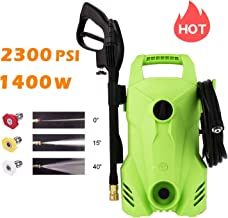 Homdox Electric Pressure Washer 2300 PSI,1400W 1.6 GPM Portable Electric Power Washer with 3 Quick-Connect Spray Tips