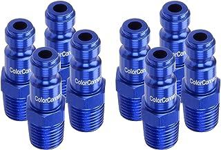 ColorConnex Plug (8 Pack), Automotive Type C, 1/4 In. MNPT, Blue - A72440C-8PK