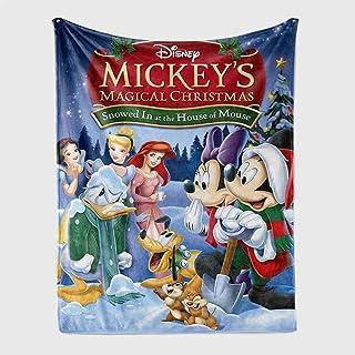 DWSM Disney Mickey Minnie Mouse - Manta para bebé (franela, muy suave, impresión digital 3D), Diseño 24, 150*200CM