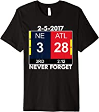 Mens 'NE 3 ATL 28 Never Forget' Sport Football Shirt