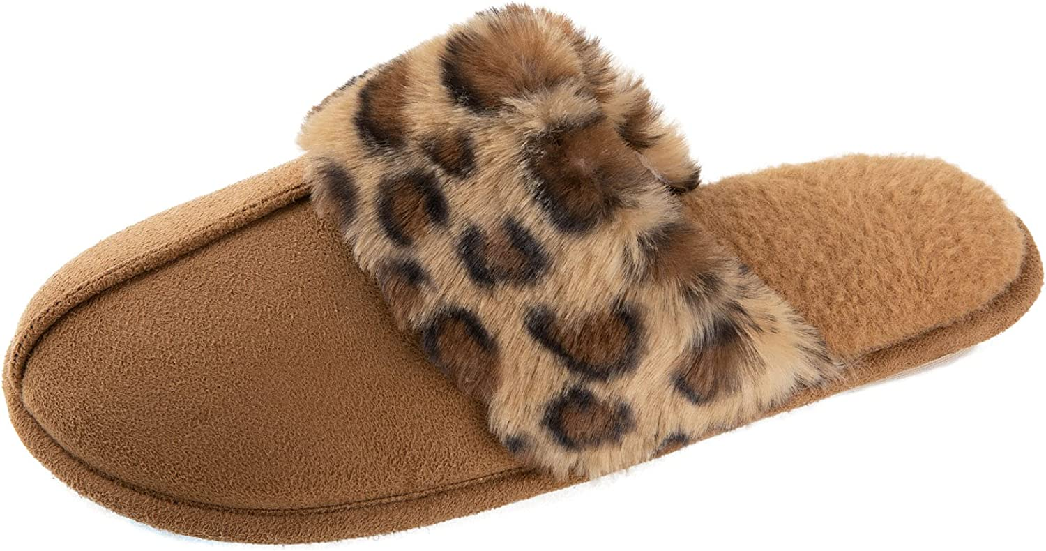 Zizor Women's Comfy Fuzzy Over item handling ☆ Indoor House Plush Slippers Max 58% OFF Soft Coll