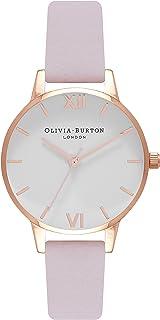 Olivia Burton Women's Quartz Blossom analog Display and Leather Strap, OB16MDW36
