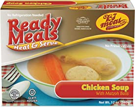 Kosher Meals Ready to Eat, Kosher Chicken Soup with Matzoh Balls - Good for Type 2 Diabetic Diet - (Microwavable, Shelf Stable) – Dairy Free - Glatt Kosher (12 ounce - Pack of 1)