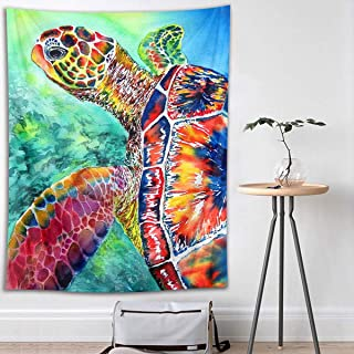 HVEST Sea Turtle Tapestry Underwater Animal in The Ocean Wall Hanging Marine Life Tapestries for Kids Bedroom Living Room Dorm Wall Decor Birthday Party Backdrop,40Wx60H inches