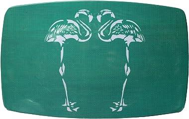 """Panda Expressions 14"""" Q Too Melamine Aqua Flamingo Decorative Platter"""