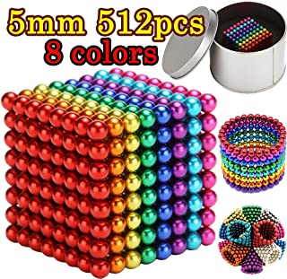 MENGDUO 512pcs 5mm Magnetic Cube Magnets Sculpture Building Blocks Toys for Intelligence Learning -Office Toy & Stress Relief for Adults