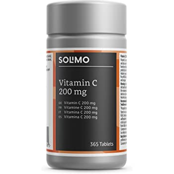 Marchio Amazon- Solimo Integratore alimentare di vitamina C 200 mg, 365 compresse