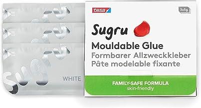 Tesa I000824 Sugru Pegamento Moldeable-Fórmula Segura para la Familia, Apta para el Contacto con la Piel, Blanco, 3 Paquetes