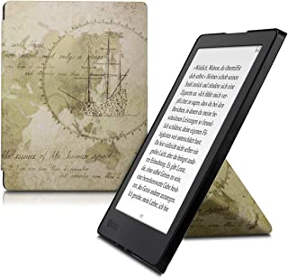 kwmobile Origami Case for Kobo Aura H2O Edition 2 - Ultra Slim Fit Premium PU Leather Cover with Stand - Brown/Light Brown