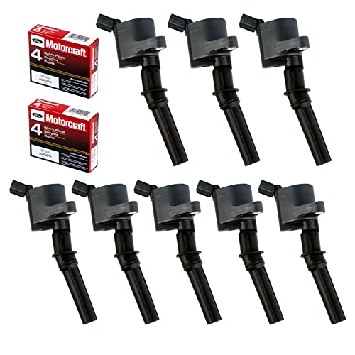 MAS Set of 8 Ignition Coil DG508 & Motorcraft Spark Plug SP493 for Ford Lincoln Mercury