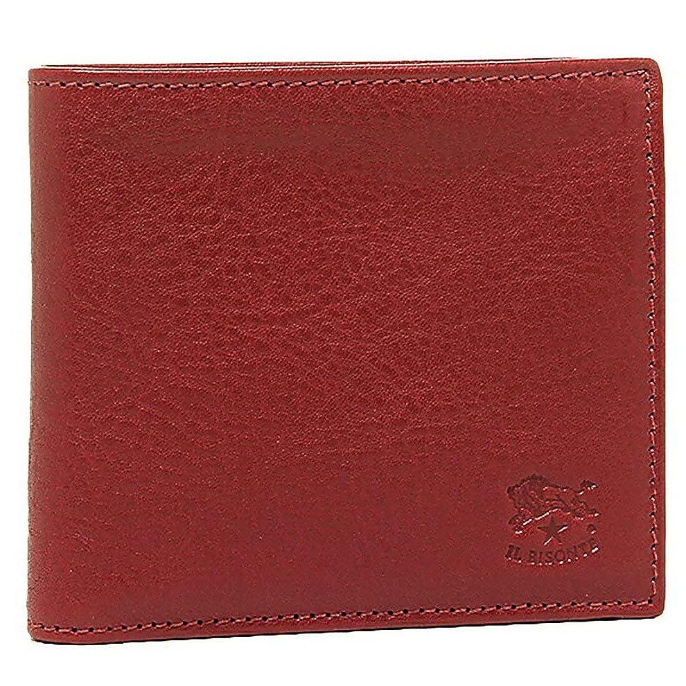 記者保険をかける追放する[イルビゾンテ] 折財布 IL BISONTE C0817 P メンズ 二つ折り財布 無地 ((5)245 ROSSO) [並行輸入品]
