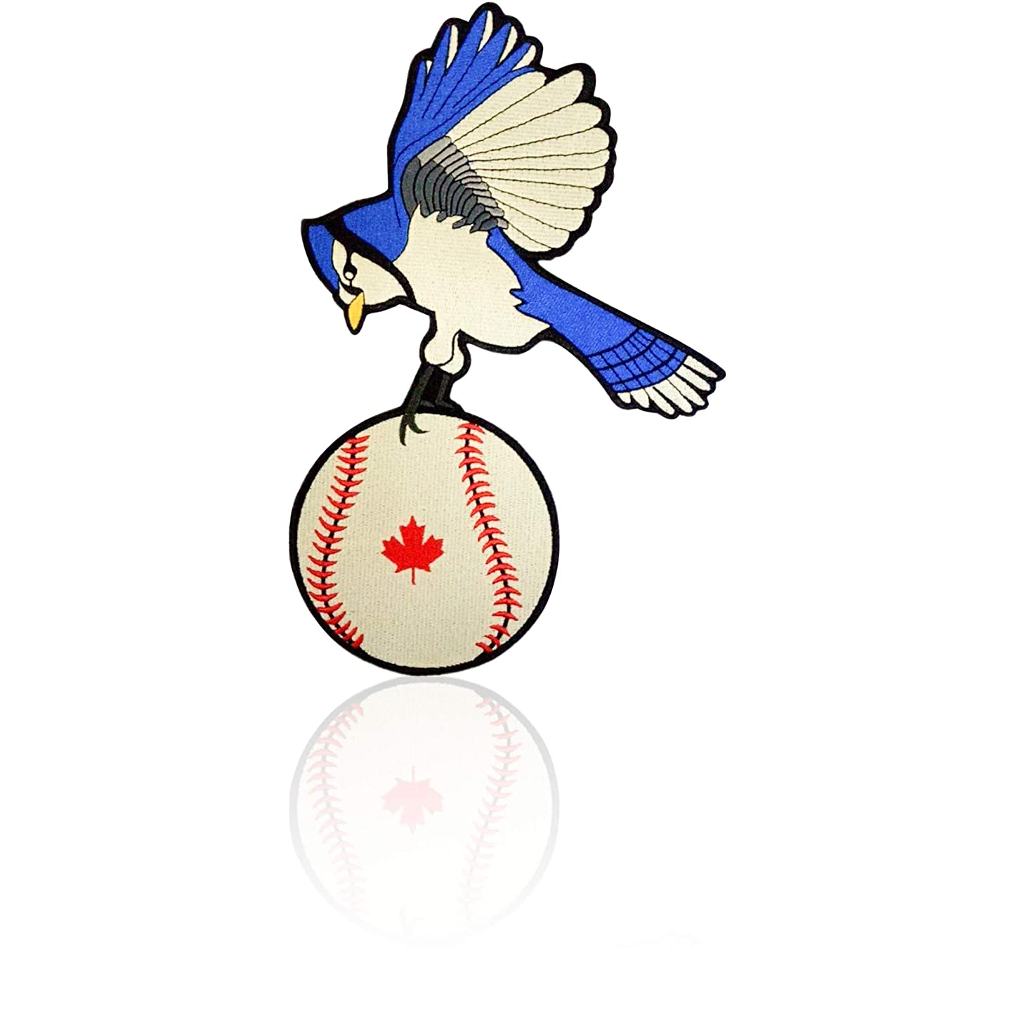 Blue Jay Back Patch Iron on & Sew on Toronto Baseball Embroidered Applique Decoration DIY Craft for Tshirts, Denim Jackets, Hats, Bags