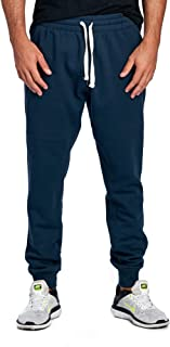 ProGo Men's Casual Jogger Sweatpants Basic Fleece Marled Jogger Pant Elastic Waist
