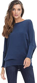 Womens Casual Pullover Dolman Long Sleeve Pullover Loose Fit Blouse Knit Top