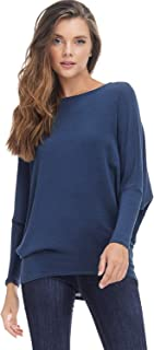 Alexander + David AD Womens Casual Long Dolman SLV Pullover Loose Fit Blouse Top