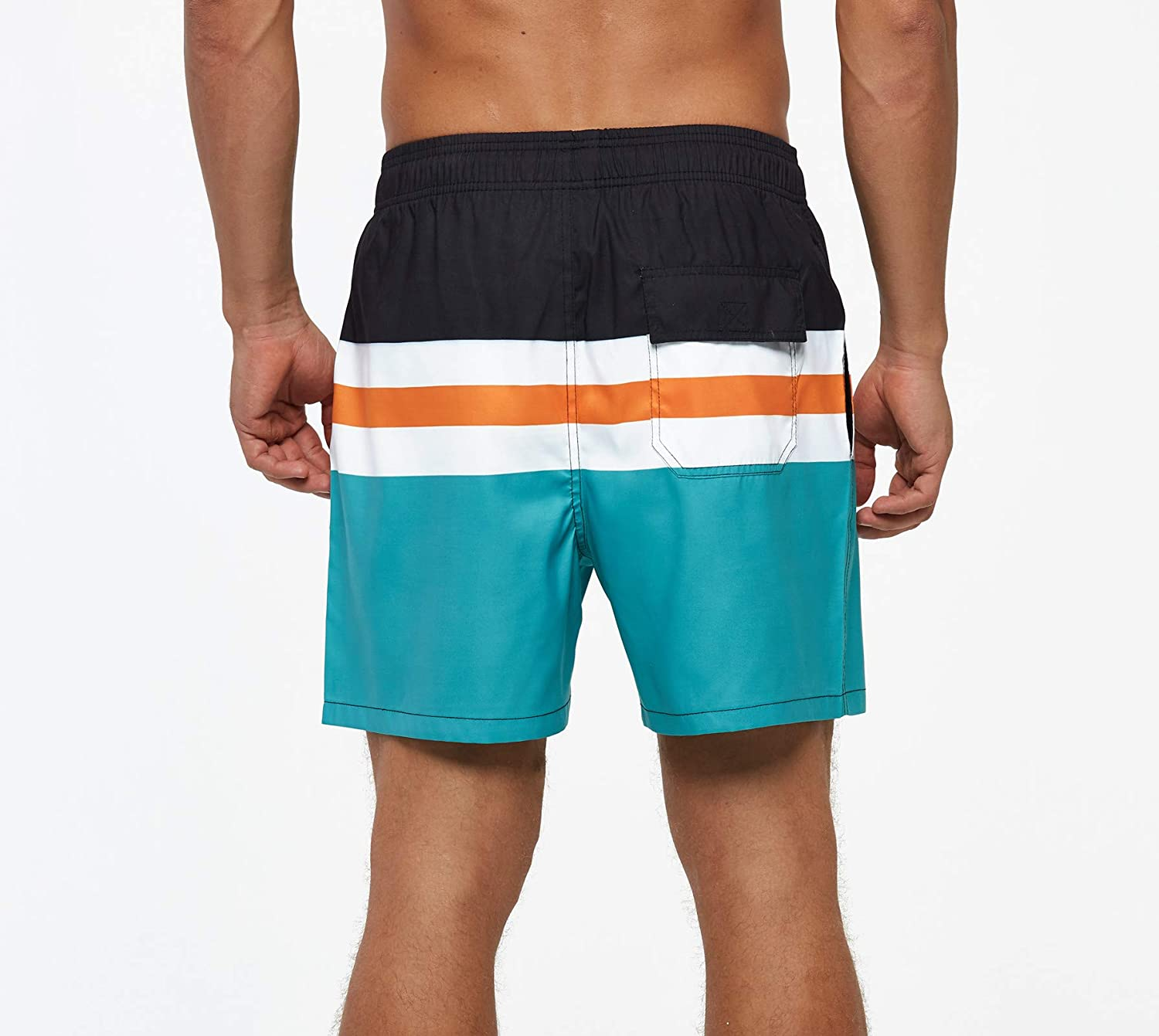 TENMET Men's Quick Dry Swim Trunks Solid Sports Board Shorts Swimsuit with Back Zipper Pockets : Sports & Outdoors