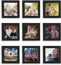 Home Margo, 4×4 Frames, Black Picture Frame Instagram Photo Collage Frame, Set of 9,..