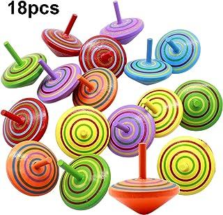 comprar comparacion Natuce 18 PCS Peonza trompo, Juguetes para niños, Juego de peonzas, Peonzas de Madera de Colores, Creativo Juguete, Regalo...