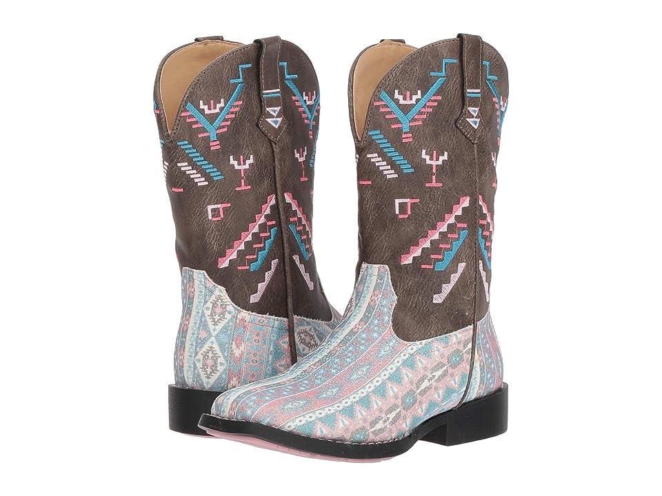 Roper Kids Glitter Azteka (Toddler/Little Kid) (Multicolor Aztec Glitter Vamp Embossed) Cowboy Boots