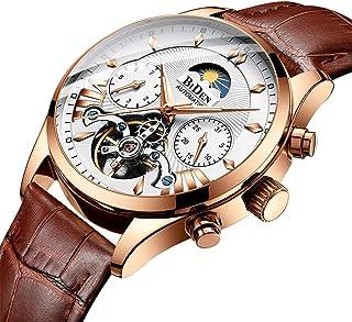 Fashion Automatic Mens Watches Tourbillon Mechanical Wristwatch, Luxury Luminous Skeleton Waterproof, Relojes Hombre