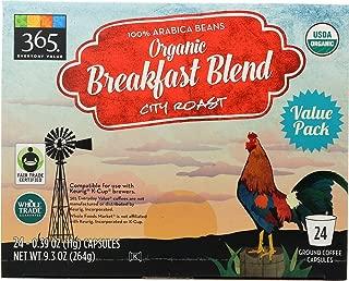 365 Everyday Value, Organic Breakfast Blend City Roast Coffee Capsule, 24 count, 9.3 oz