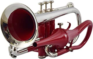 RED COLOR ECHO CORNET Bb PITCH FOR SALE WITH FREE HARD CASE AND MOUTHPIECE