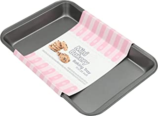 MORLIFE Non-Stick Steel Mini Bakery Cookies Pastry Jelly Roll Bread Brownies Cakes Baking Tray 30.5cm x 20cm x 3cm