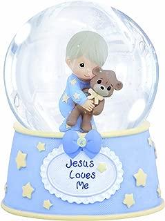 Precious Moments,  Jesus Loves Me, Resin/Glass Snow Globe, Boy, Musical, 132103