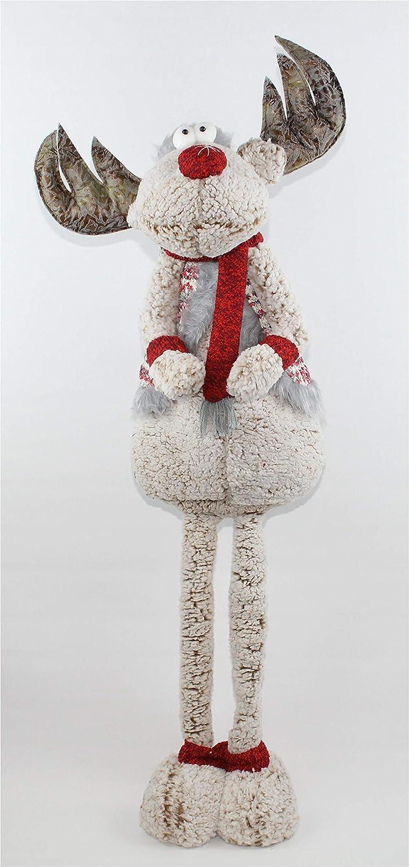 Unbekannt Weihnachtsfigur Stoffelch 80 cm groß Weihnachtsdeko XL Weihnachtselch für Weihnachten B076TNDFVX