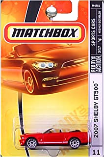 Matchbox Sports Cars 2007 Ford Mustang Shelby GT500 GT-500 Convertible Red #11