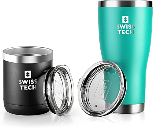 lowest SWISS+TECH 20 oz Tumbler outlet online sale and 14 oz popular Coffee Mug outlet online sale