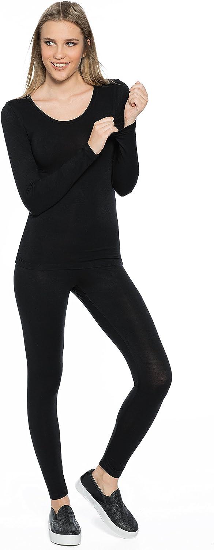 Rubyred ThermaRED Women's Thermal Pants Microfiber Lightweight Soft Warm Cozy Innerwear Legging