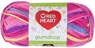 RED HEART Gumdrop Yarn, Cherry