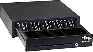 EOM-POS Cash Register Money Drawer. Compatible with Square Stand [Receipt Printer Required]. Includes Built in Cable to Connect to Receipt Printer. (Printer Driven)