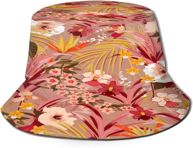 Stylish Retro Floral Pattern Bucket Store Hat San Diego Mall Unisex Sun Summer Pa