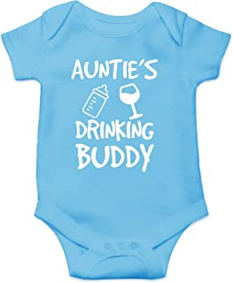 Auntie's Drinking Buddy - My Aunt is The Best - Cute Infant One-Piece Baby Bodysuit