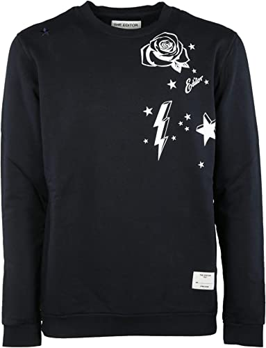 THE EDITOR Luxury mode Homme E406797T15508149 Noir Sweatshirt   Printemps été 19