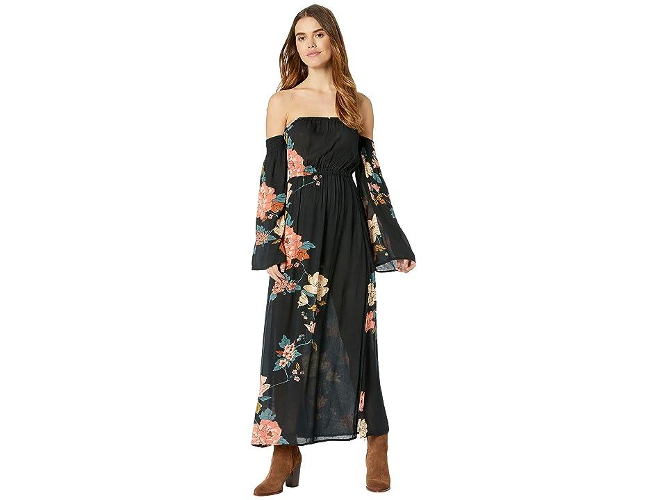 Billabong Crystal Flower Dress (Black) Women