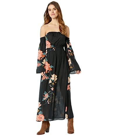 Billabong Crystal Flower Dress (Black) Women