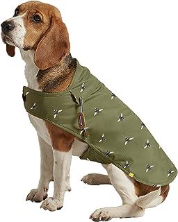 Rosewood Joules Khaki Green Bee Print Water Resistant Dog Coat, Khaki Green, Large