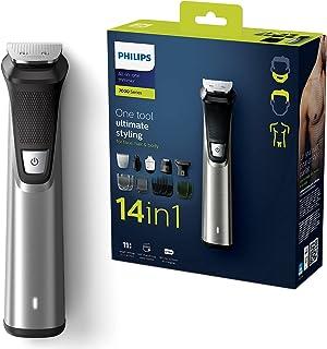 Philips Multigroom series 7000 14-i-1 trimmer för ansikte, hår och kropp - 14 verktyg - DualCut-teknik - Upp till 180 minu...