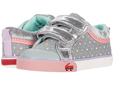 See Kai Run Kids Robyne (Toddler/Little Kid) (Gray Dots/Silver) Girl
